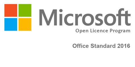 Microsoft Office Standard microsoft office standard 2016 open licence enespa