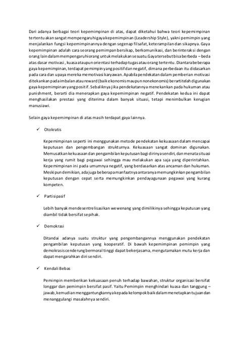 Kepemimpinan Positif makalah manajemen kepemimpinan