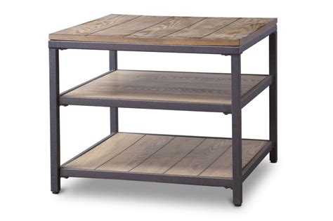 cargo wood end table modern furniture brickell collection