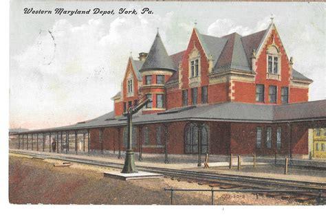york pa western maryland railroad depot station vtg