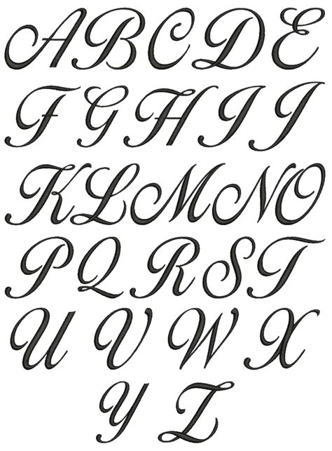 tattoo fonts a z in vb net cursive letters a z lowercase and uppercase