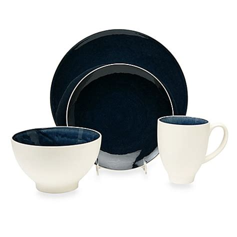 bed bath and beyond dinnerware sets baum max 16 piece dinnerware set in cobalt bed bath beyond