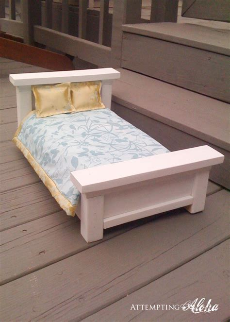 ana white build a doll farmhouse bed free and easy diy attempting aloha american girls farmhouse doll bed