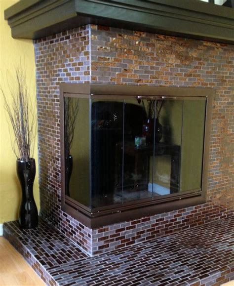 Corner Fireplace Glass Doors by Corner Multi Sided Masonry Fireplace Design Specialties