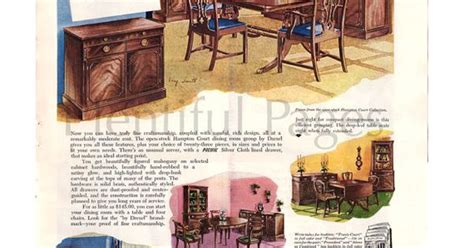 1960s drexel perspective dining room furniture ad 1949 drexel furniture vintage ad 1940 s by plentifulpages