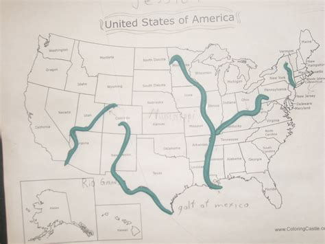 river map of usa maps of the united states major rivers