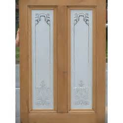 glass designs ed001 etched glass door with nouveau glass design