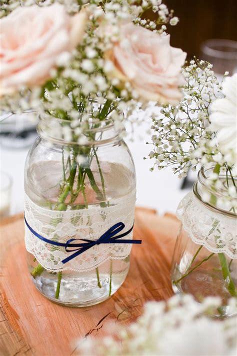 Jar Vases For Wedding by Lace Jar Vases Wedding Table
