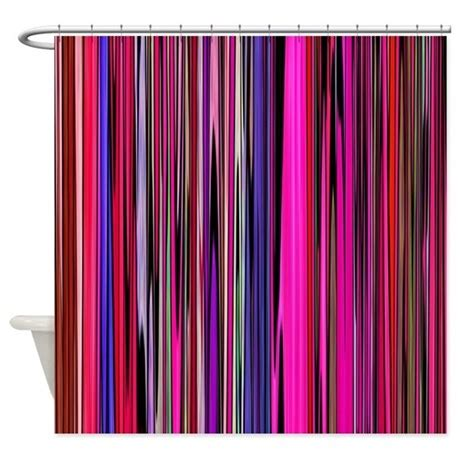 pink striped shower curtain red and pink stripes shower curtain by zodiarts