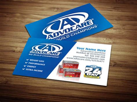 free advocare business card template advocare business card template by tankprints on deviantart