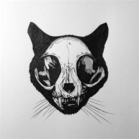 tattoo ink animal bones 11 cool tattoo s that anyone can rock cat skull google