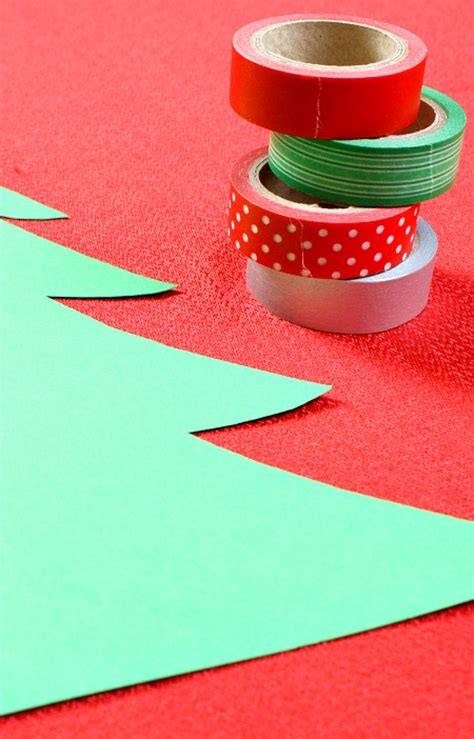 washi tape christmas craft washi tree craft