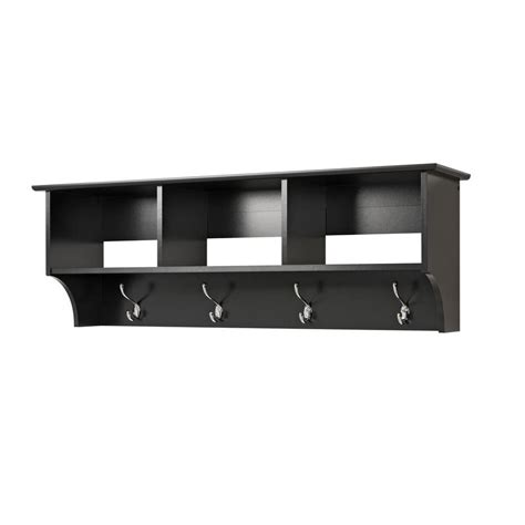 entry shelf prepac black entryway cubbie shelf the home depot canada