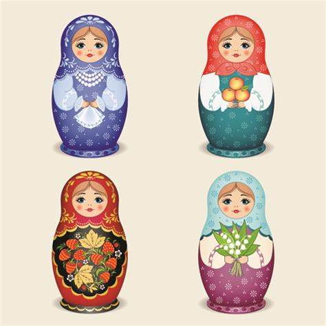 design doll download full cute russian doll design vectors 05 vector other free