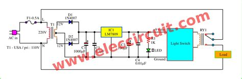 daylight sensor switch circuit artificial waterfall