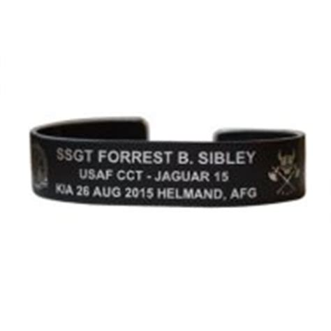 Black Aluminum Kia Bracelets Ssgt Forrest Sibley Bracelet 7 Quot Black Aluminum Bracelets