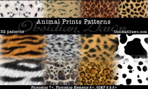 pattern tiger photoshop 12 sets of animal photoshop custom shapes enfew