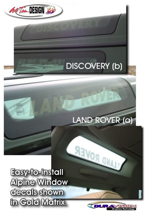 Marchen Land Vinyl Paint Set alpine window decal 1 for land rover discovery