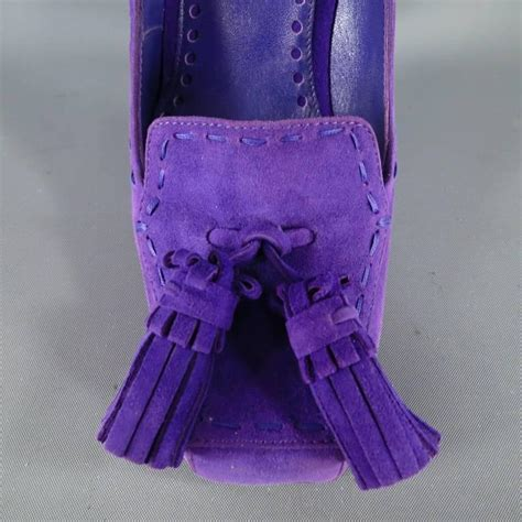 Fabulous Fashionista Sle Sale In San Francisco Ca November 18 2006 by Yves Laurent Size 6 Purple Suede Tassels Loafer