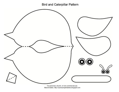 bird craft template free bird template for kid crafts