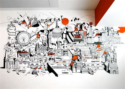 graphic wall murals office tour inside nike s offices