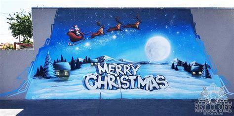 merry christmas mural graffiti artist melbourne