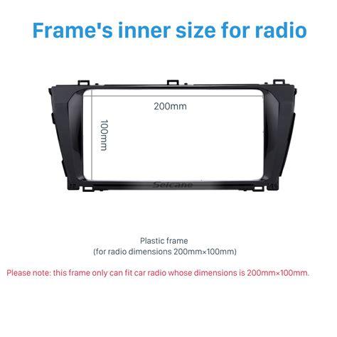 Frame Toyota Corolla Altis 2013 2014 Grade A new din car radio fascia for 2013 2014 toyota