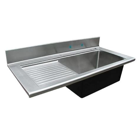 kitchen sink drain board custom stainless sink drainboard sinks from handcrafted metal