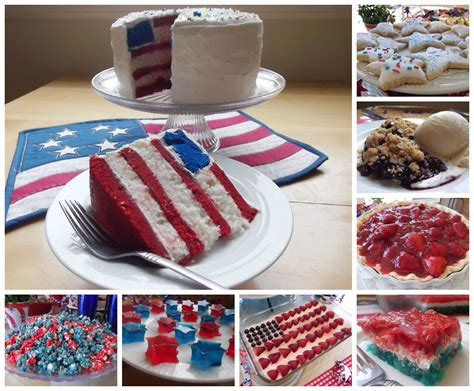 july 4th dessert and snack ideas and recipes celebrating