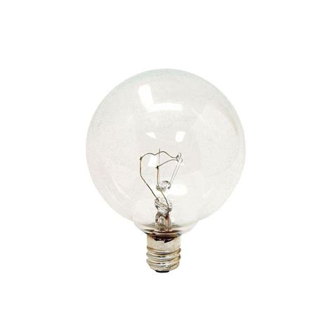 60 watt clear globe light bulb ge 60 watt incandescent g16 5 globe clear light