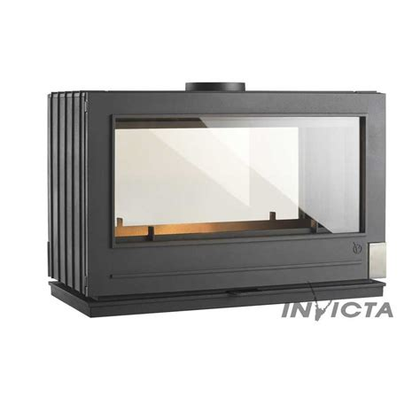Cheminee A Ethanol 1484 by Invicta Fireplaces Aaron Sided Wood And Gas