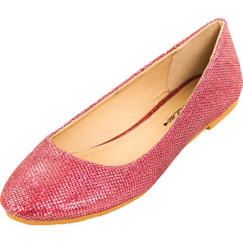glitter shoes flats new womens glitter ballet flats slip on shoes sparkle