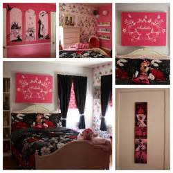 Disney Bedroom Ideas The Completed Bedroom Pink And Black Disney Themed Diy