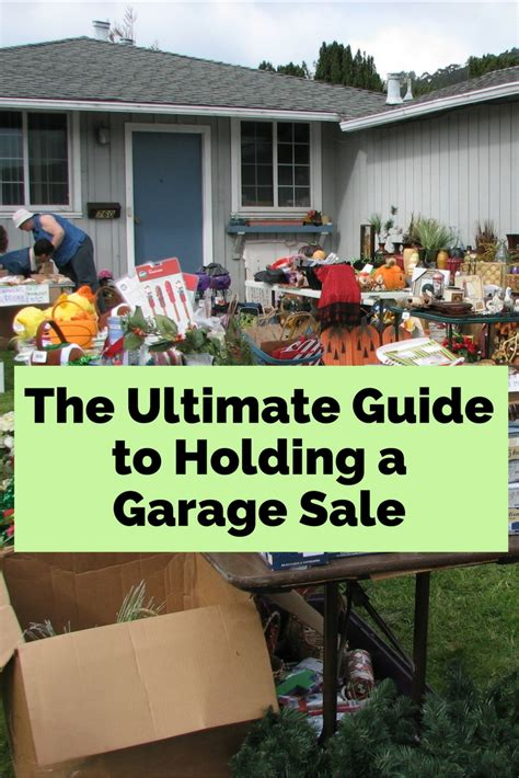 Ultimate Garage Sale by The Ultimate Guide To Holding A Garage Sale The Budget Diet