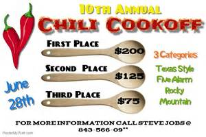 Chili Cook Flyer Template by Chili Cookoff Event Flyer Template Postermywall