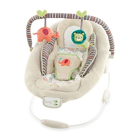 bright starts comfort and harmony comfort harmony cradling bouncer in cozy kingdom