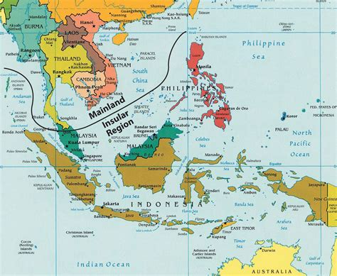 regional map of asia southeast asia