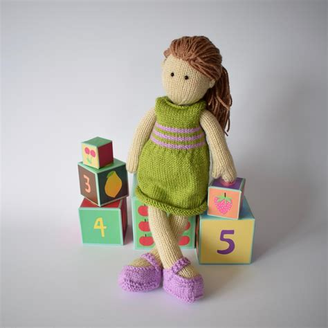 design doll lily lily doll knitting pattern by amanda berry knitting