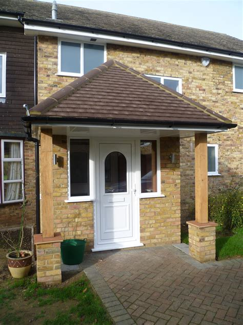 Front Door Extension Porch 2 With Oak Posts Oak Or Contemporary Porch Porch Extensions And Front Doors
