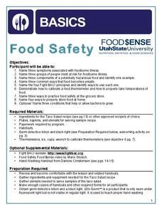 kitchen safety pictures lesson plans worksheets