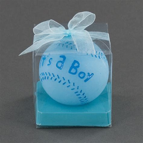 candle baby shower favors its a boy blue baseball candle baby shower favor