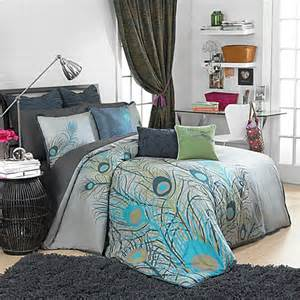 peacock bedroom set peacock feathers duvet cover set 100 cotton bed bath