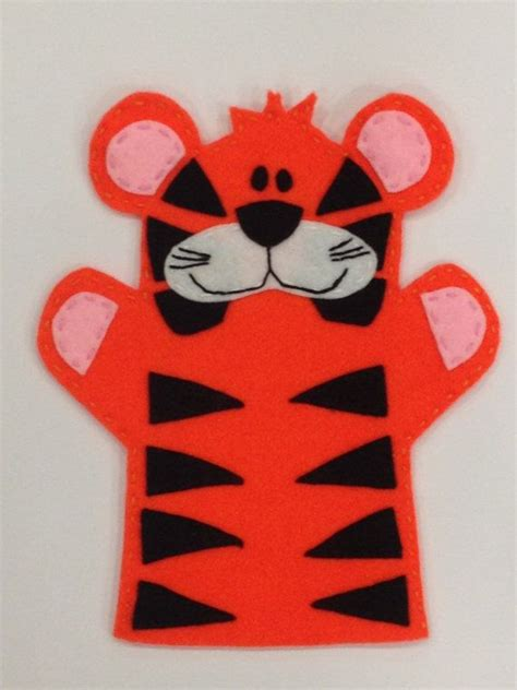 tiger hand puppet on etsy 163 7 00 pre school inspo
