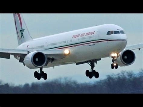 fullhd royal air maroc boeing  er landing  genevagvalsgg youtube