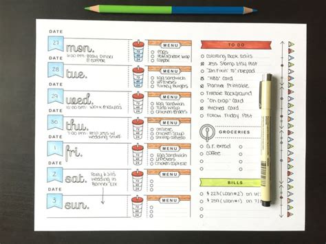 images  bujo  pinterest menu planners
