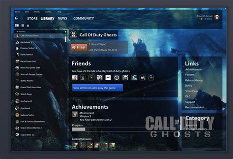 design games steam steam games ui design on behance