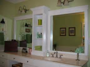 Bathroom Mirror Frame Ideas by Changing A Large Bathroom Mirror Without Removing The