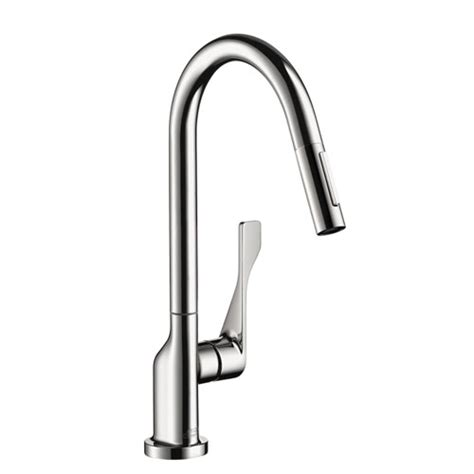 hans grohe kitchen faucets hansgrohe 39835001 axor citterio kitchen faucet with 2 spray pull out chrome faucetdepot