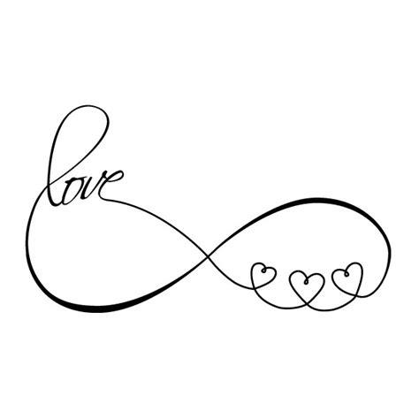 infinity love herzen wandtattoo