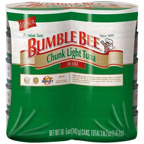 bumble bee chunk light tuna bumble bee chunk light tuna in 10 pk 5 oz bj s